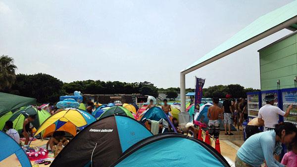 稲毛海浜公園プール テント